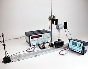 Acoustic Doppler effect with universal counter 3D asset