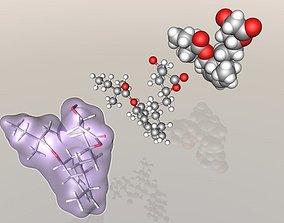 Simvastatin molecule 3D