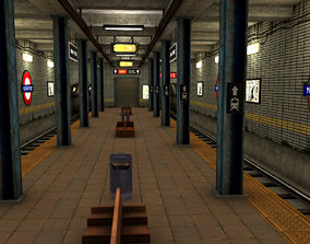 Metro Station 3D model game-ready