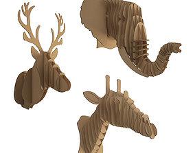3D Cardboard Animals Sculpture