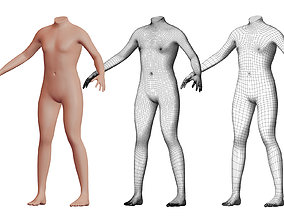 Character 12 High and Low-poly - Body male 3D model