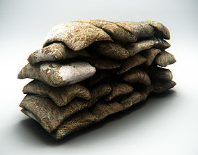 3D asset Sandbag Barrier