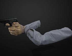 3D asset animated PM-makarov FPS PACK