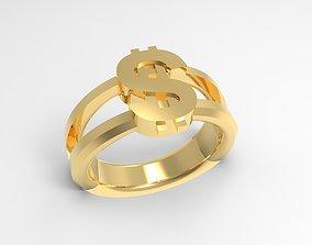 3D printable model Dollar Luxury signet ring
