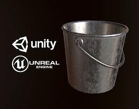 Metal Bucket - PBR Game Ready 3D model
