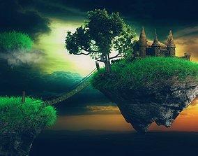 Land of Mysteries Complete Scene Floating 3D model 2
