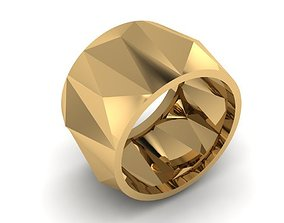 3D printable model Ring with edges