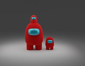 fi 3D model Among us character