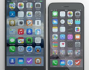3D Apple iphone 6 and 6 plus all color