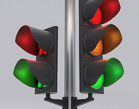 Traffic Light LED 1 3D model