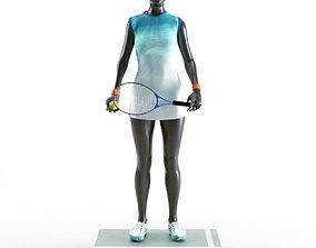 Tennis Woman Mannequin 3D tank
