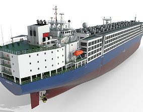 3D model ship Livestock Carrier Blue