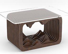 Parametric wooden table 3D model furniture