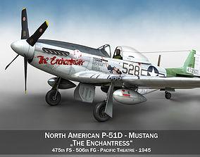 North American P-51D Mustang - The Enchantress 3D model