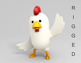 3D Rigged Chicken Character