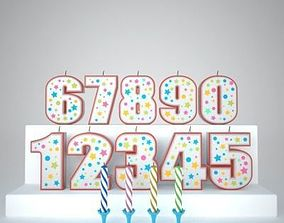 3D Birthday Number Candles