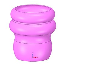 country style vase cup vessel v49 for 3d-print or cnc