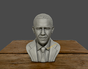 Barack Obama Bust ready to 3D print