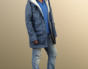 11455 Michael - Man with Winterjacket standing 3D model 2