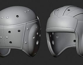 1930s Leather Football Helmet 3D printable model