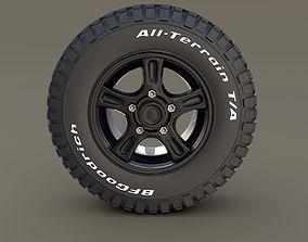 Offroad Alloy Wheel MUD 3D model