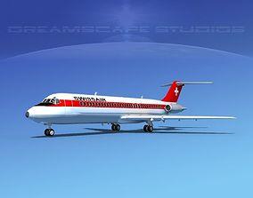 3D model Douglas DC-9-30 Swissair