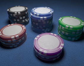 3D model Casino Chips Poker Chips