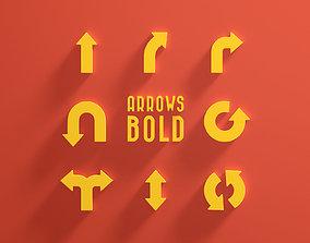 Arrows Bold 3D model
