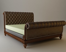 Sleigh Bed Detailed 3D model