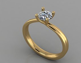 Ring - Diamond 3D print model engagem