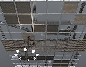 Pipes industrial ceiling 3D model