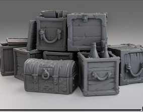 3D printable model Medieval Crate Pack A