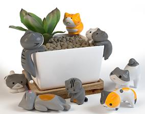 Cats The decor interior 3D