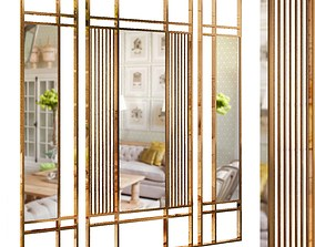Decorative partition set 20 3D
