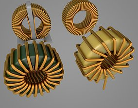 Toroidal Choke Coil Filter Inductor 3D model