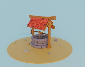 game-ready Well 3D low poly model