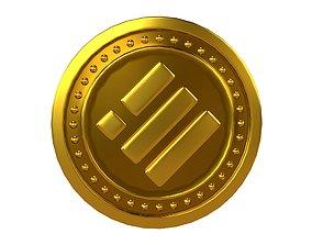 3D asset Binance USD Coin v3 001