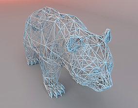 3D model PANDA WIRE FRAME