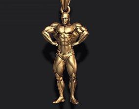 Bodybuilder pendant 3D printable model fitness