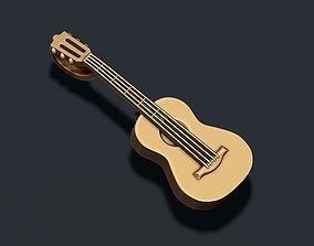 3D print model music Guitar pendant