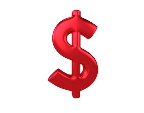 Dollar Symbol v2 007 3D asset