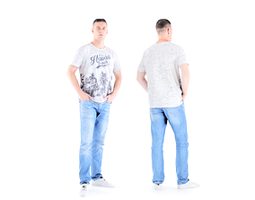 3D model Man casual style 01