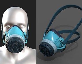 3D model Gas mask respirator sci fi futuristic technology
