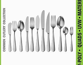 Common Cutlery Set 12 Pieces 3D model