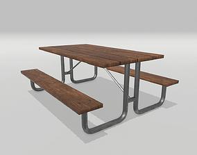 Picnic Table 3D asset realtime