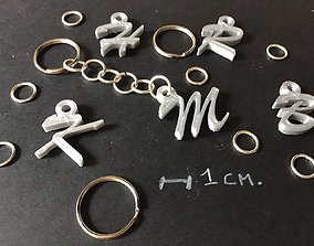 3d letters for keychain and more font