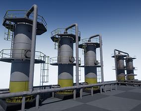 3D model Industrial Vertical Vessel PBR