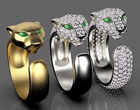 panther ring 3D print model rings