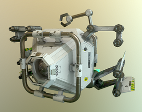animated drone 3D asset
