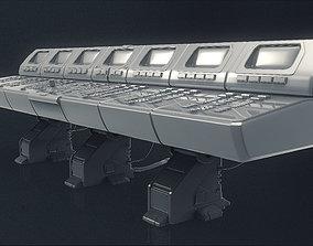 Large Scifi 3D Computer Control Panel electronics